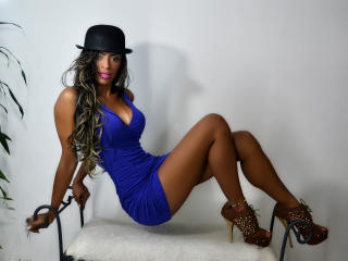 Photo de profil sexy du modèle EbonyLaura, pour un live show webcam très hot !