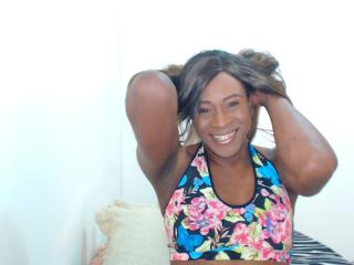 Picture of the sexy profile of EbonySurpriseTS, for a very hot webcam live show !