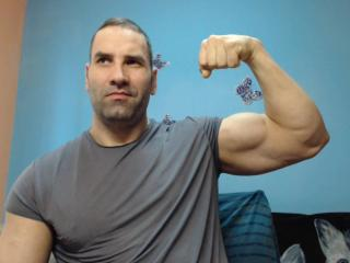 Picture of the sexy profile of muscleshow, for a very hot webcam live show !